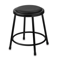 Padded Stool, Black