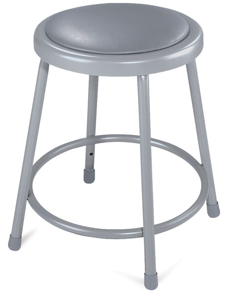 Padded Stool, Gray