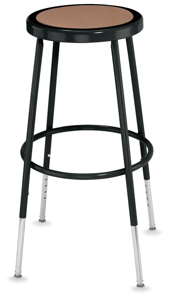 Adjustable Stool without Backrest, Black