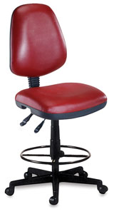Vinyl Task Chair, Wine