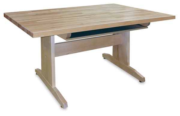 Maple Art Table with Shelf