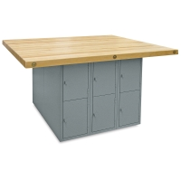 12-Locker Workbench without Vises, Vertical Locker