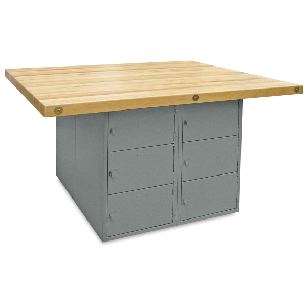 12-Locker Workbench without Vises, Horizontal Locker