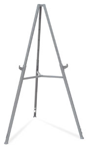 Display easel (Shown at full height)