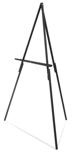 Tripod Floor Easel, Black Finish