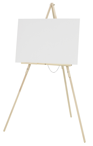 Tripod Floor Easel, Natural Finish  (Canvas Not Included)