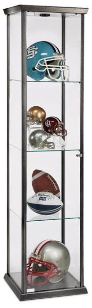 Visions Series Display Case, Hammertone Silver