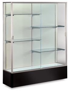Satin Aluminum Frame/Black Base