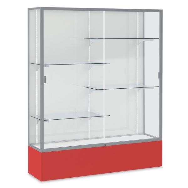 Satin Aluminum Frame / Red Base