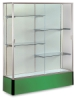 Satin Aluminum Frame/Kelly Green Base