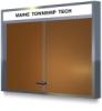 Claridge Cork Bulletin Board Cabinets With Sliding Doors