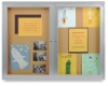 Ghent Enclosed Natural Cork Bulletin Boards