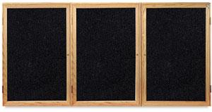 Oak Frame Tackboard, 3 Door