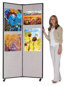 3 Panel Display, Gray