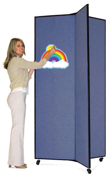 3 Panel Display, Blue