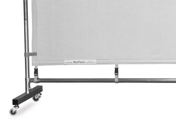Freestanding Steel MeshPanel Display Wall w/ Wheels
