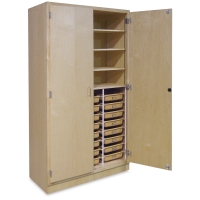 Tote Tray Storage Cabinet w/ 24 Trays