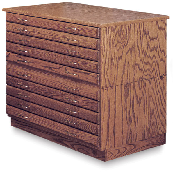 5-Drawer Files, Base, and Cap in Medium Oak