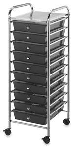 Mobile Storage Cart, 10-Drawer<br>Smoke