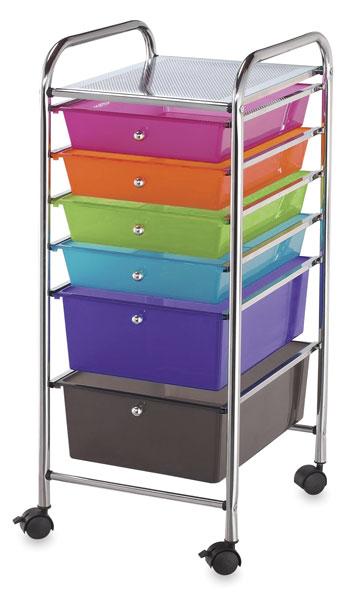Mobile Storage Cart, 6-Drawer<br>Multi