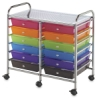 Mobile Storage Cart, 12-DrawerMulti