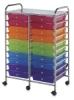 Mobile Storage Cart, 20-DrawerMulti