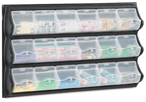 Panel with 18 Bins, Black
