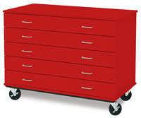 ID Systems Five-Drawer Paper Storage Cabinets