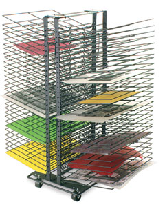Image result for art class drying rack