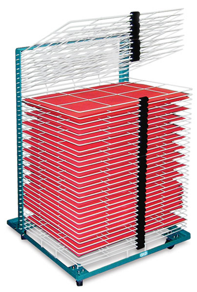 "40-Shelf Drying Rack with 20"" × 26"" Shelves"