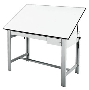 "Gray Table, 37½"" × 60"""