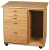 Studio 5-Drawer Taboret with Side Cubby