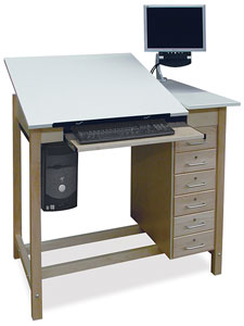 Adjustable Top CAD Drafting Table