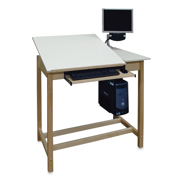 CAD Drafting Table With Split Fiberesin Top<br>(Computer not included)