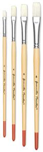 Flat Bristle Brushes, Set of 4
