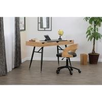 Nook Desk, Ashwood/Graphite Legs(Shown in use)