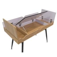 Nook Desk, Ashwood/Graphite Legs(All compartments shown open)