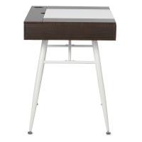 Nook Desk, Walnut/White Legs