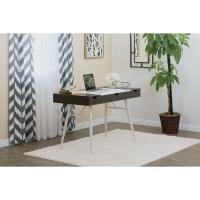 Nook Desk, Walnut/White Legs(Shown in use)