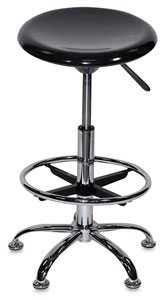 Drafting Stool, Hi-Gloss Black