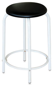 Studio Stool, White Base
