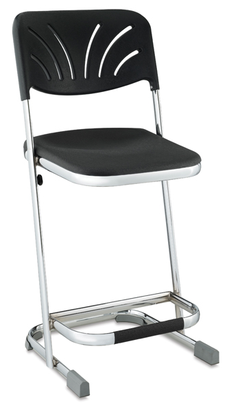 "Elephant Z-Stool with Backrest, 22""H"