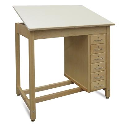 Hann Six Drawer Wood Drawing Table