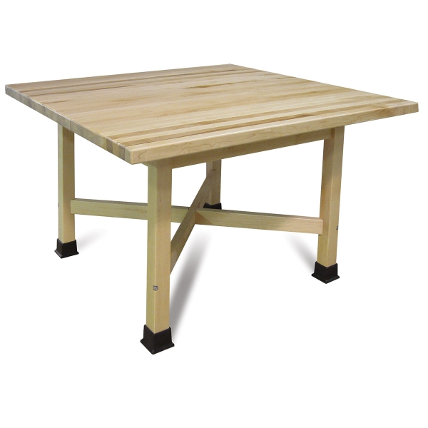 "Four-Student ""X"" Table, Maple Top"