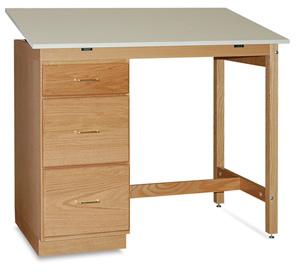 Pedestal Desk with One-Piece Top