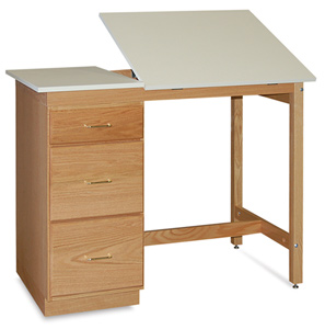 Pedestal Desk with Split Top