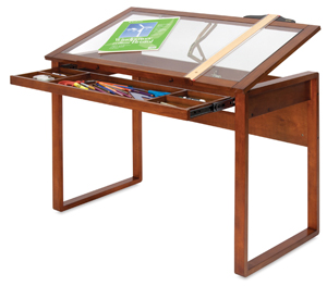 Ponderosa Table, Glass Top(Art Supplies Not Included)