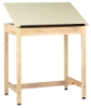 """Drawing Table w/out Drawer, 1 Piece Top, 36""""H × 36""""W × 24""""D"""