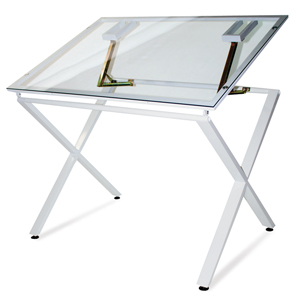 Beau X Factor Drawing U0026 Hobby Table, Glass