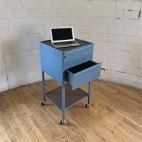 2-Drawer Taboret, Vertical (Computer not included)